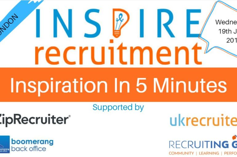 Come Chat With Us at the UK Recruiter Inspire Event 19th June